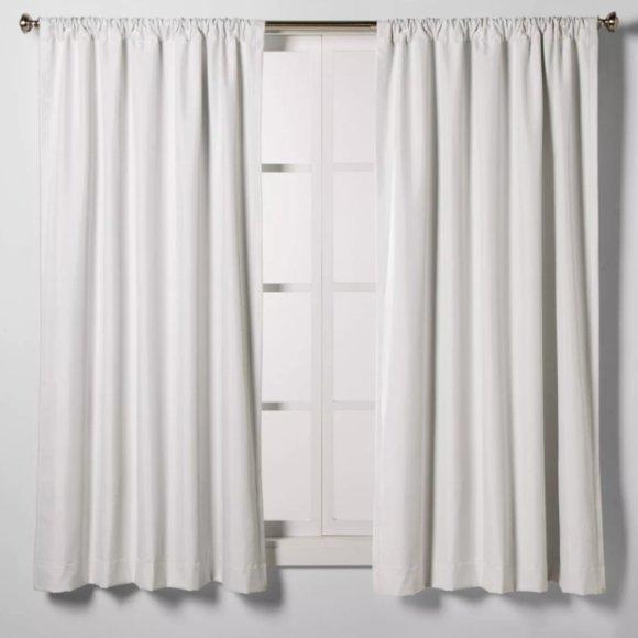 """Room Essentials Room Darkening Curtain White 63"""""""